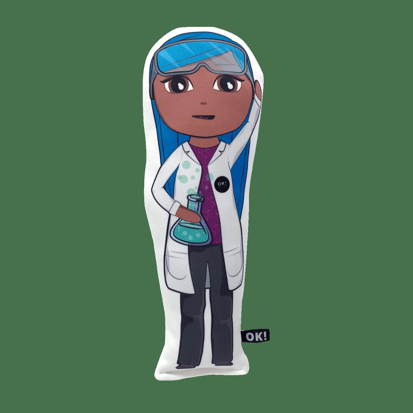 Bex Biochemist doll choc skin tone transparent
