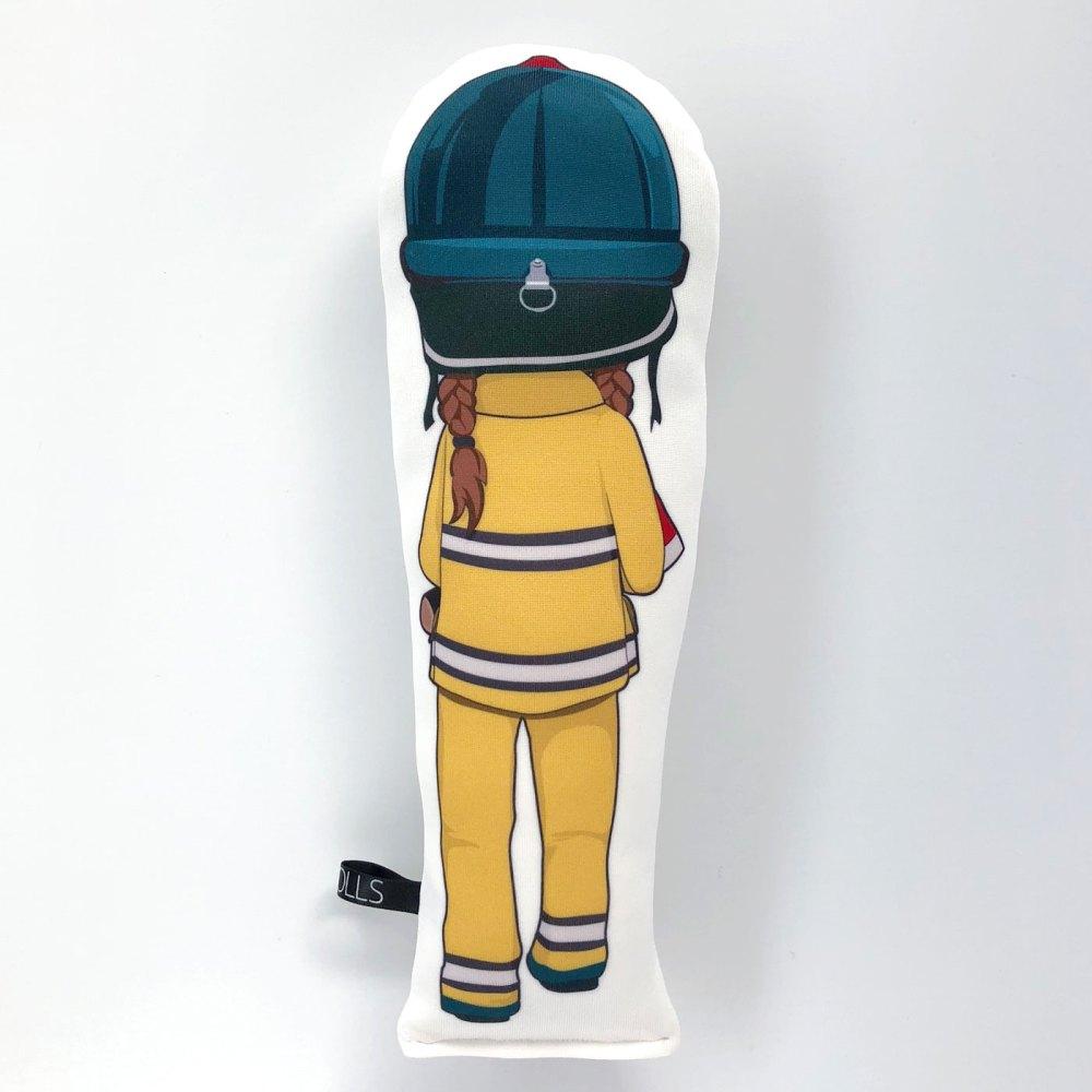 Frankie Firefighter doll back light brown hair