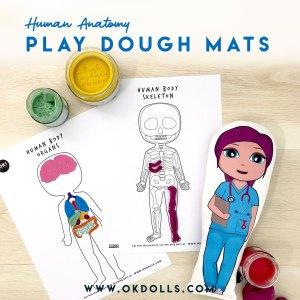 free printable Anatomy playdough mats by OK!Dolls