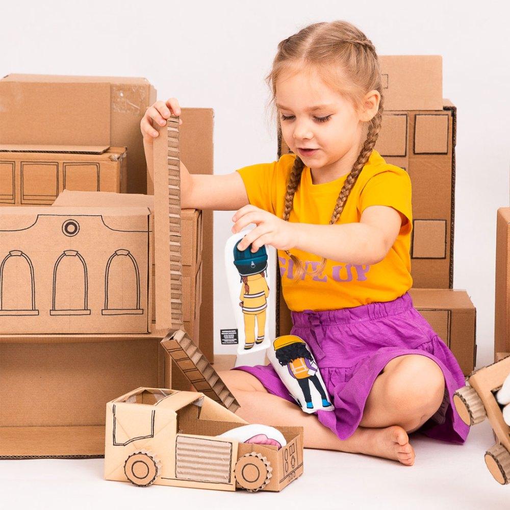 Frankie Firefighter doll and cardbaord city by OK!Dolls