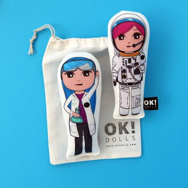 OKMini Amber Astronaut doll & Bex Biochemist doll and