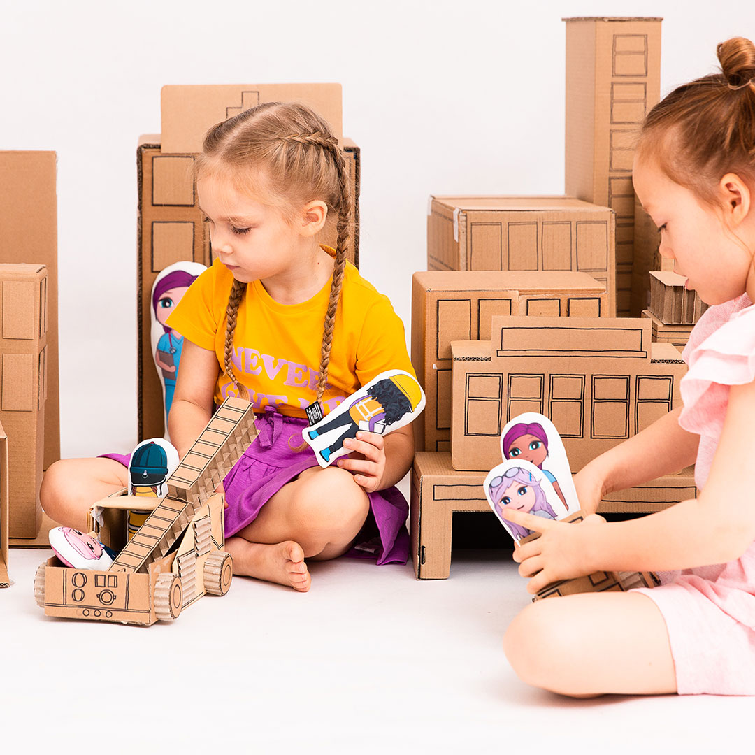 Cardboard box city and OK!Dolls
