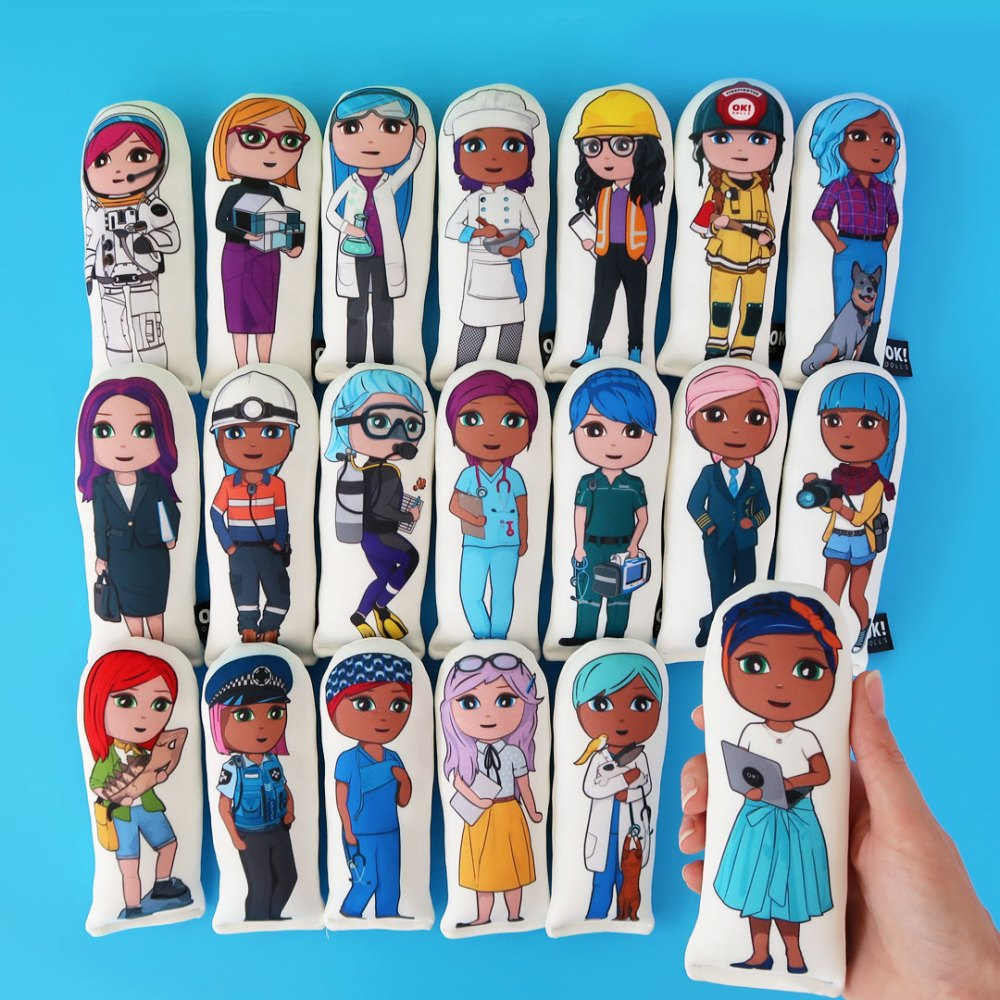 OKMini girl gang range of STEM career dolls