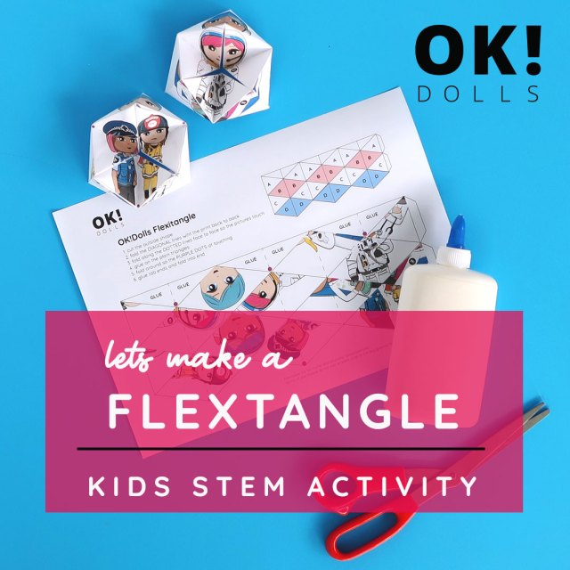 how to make a flextangle easy kids STEAM activity