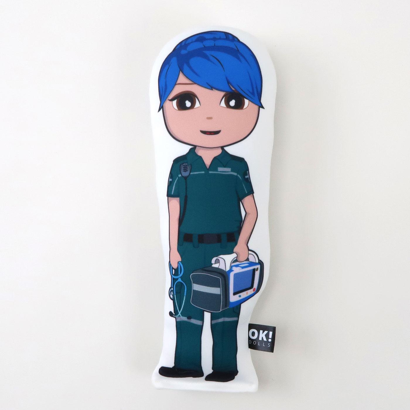 Priya Paramedic plush doll in honey