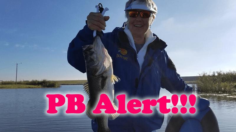 First Timer Catches Her PB on Lake Okeechobee-Largemouth Bass Fishing