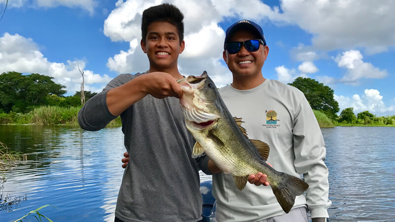 Sunny Shore Bass Fishing