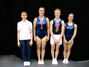 Three national NDP medals for Flyers trampolinists