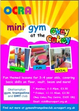 Image: Final Mini Gym at the Okey Cokey poster Jan 2019