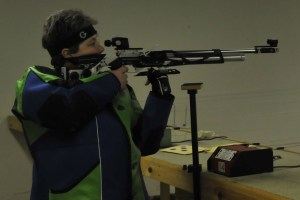 Sharon Bartlett shooting Air Rifle