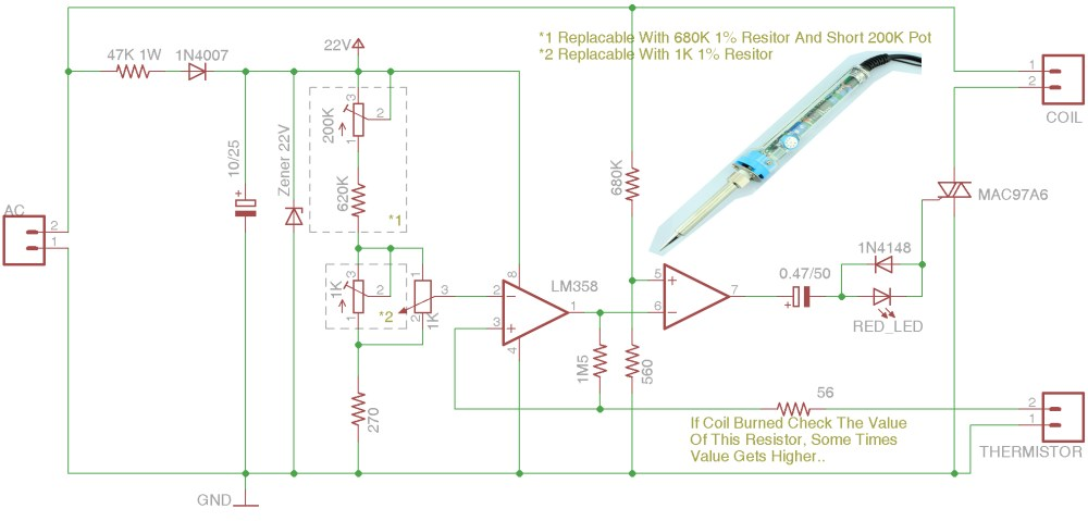 medium resolution of fixing and reverse engineering cheap temperature controlled diagram also soldering iron as well electric iron circuit diagram