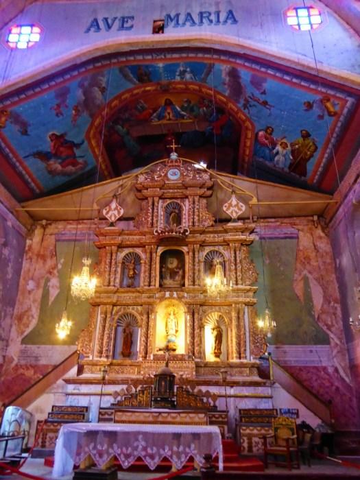 Main altar in Baclayon Church.