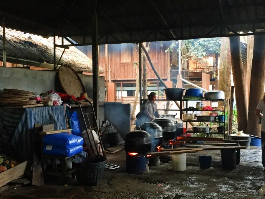 Elephant kitchen, food prep, volunteer, Thailand