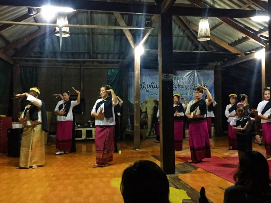 Thai dancing, local customs, culture, Elephant Nature Park, Thailand