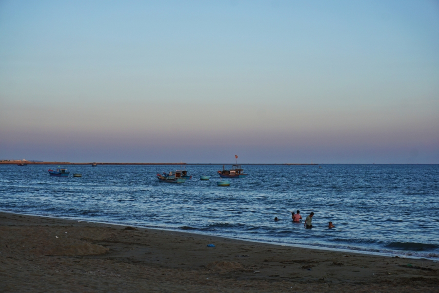 Ninh Chu Beach, beach, paradise, golden hour, twilight