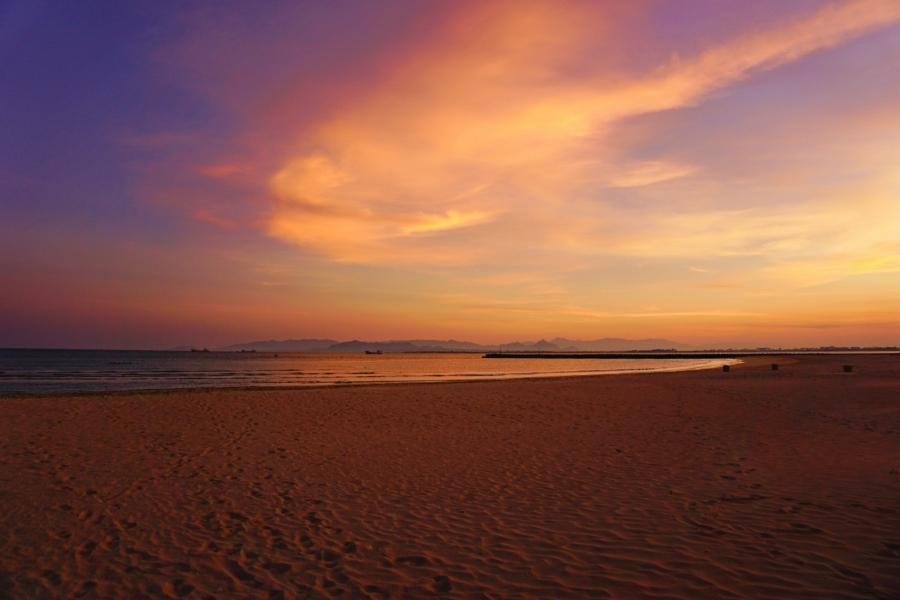 sunset, beach, paradise, Ninh Chu Bay, Vietnam