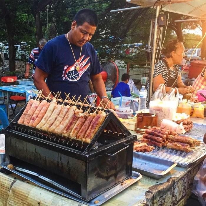 Ayutthaya night market, Thailand, street food, market, Southeast Asia
