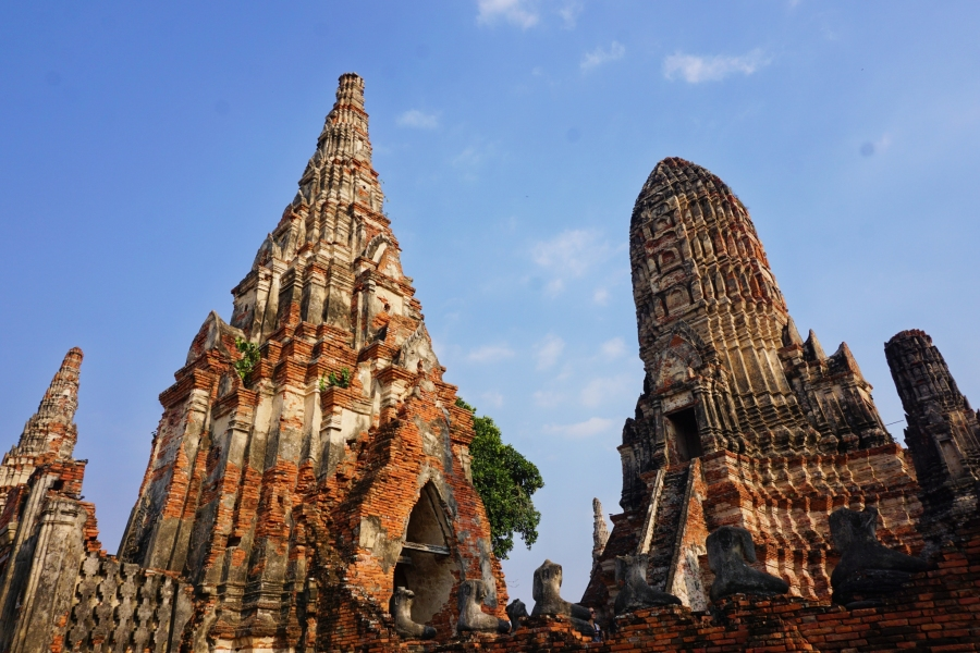 Ayutthaya, Thailand, temples, ruins, culture, Wat Chaiwatthanaram