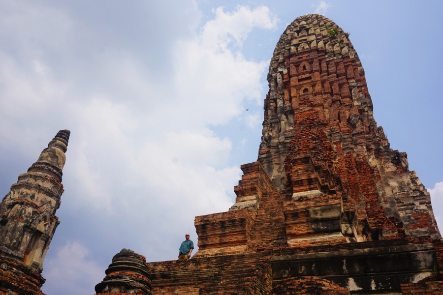 Wat Phra Ram, a temple ruin great for climbing at Ayutthaya.