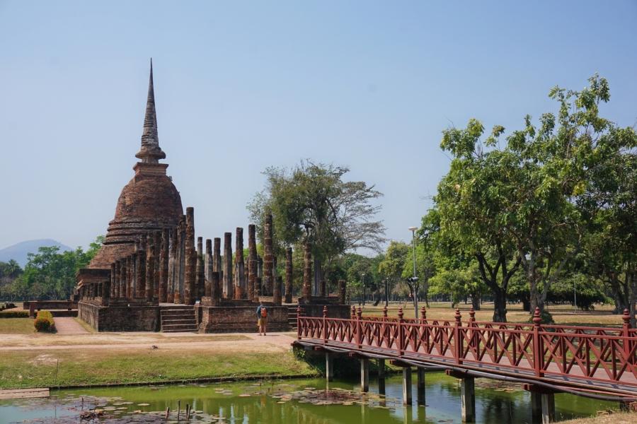 Wat Sa Si, Sukhothai, Thailand, ancient, ruins, Buddhism