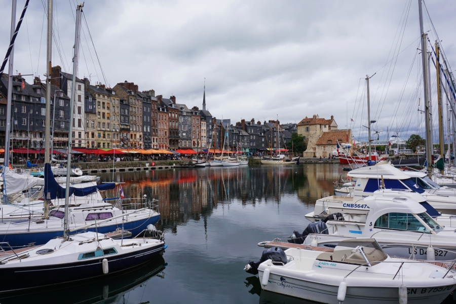 Honfleur, France is a beautiful harbor where Monet used to paint.