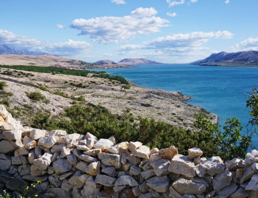 Pag Island, Croatia has beautiful seaside views, otherworldly landscapes and gorgeous sunsets.