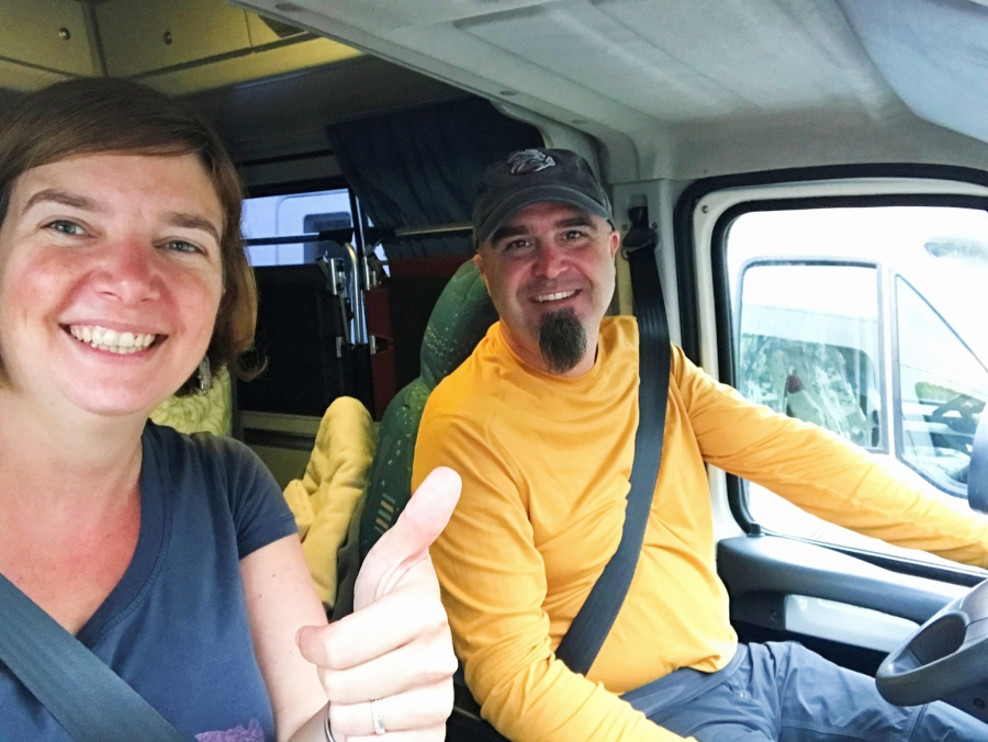 Selfie in the Netherlands. Welcome to van life.