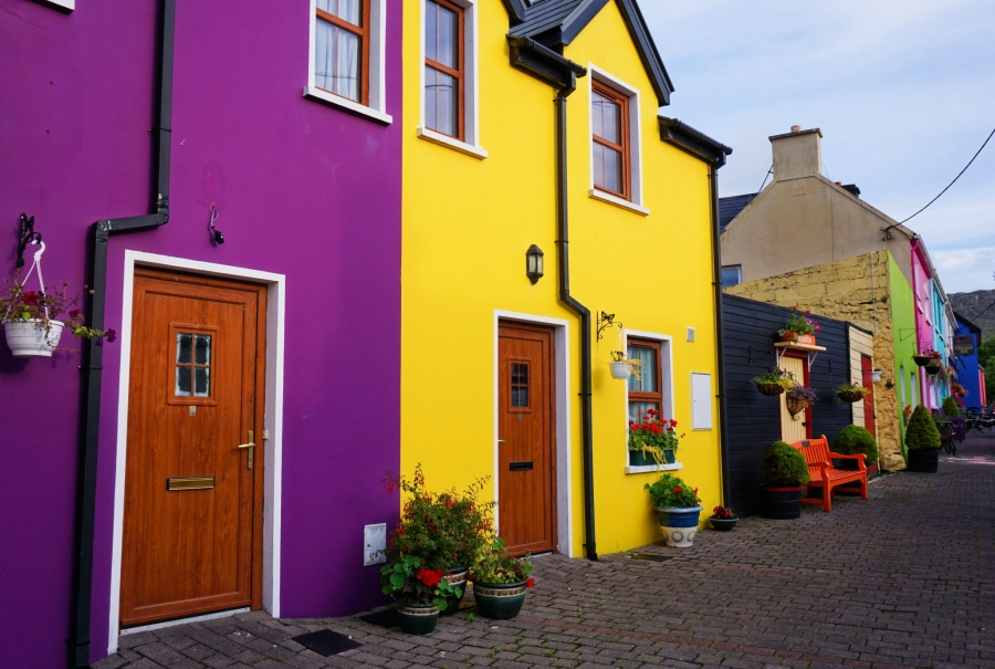 Ardgroom, Ireland and it's colorful houses make it a tidy town!
