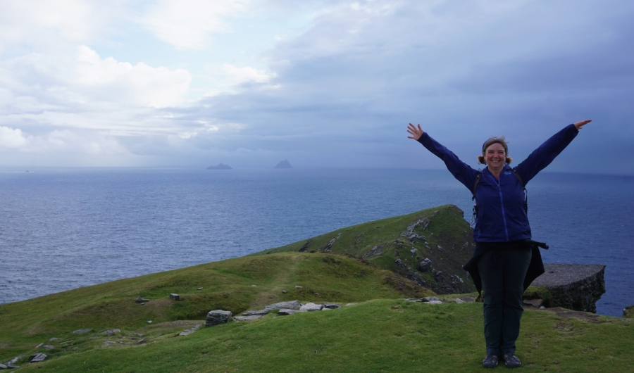 At the top of Bray Head, Ireland, practically the 'end of the world'.