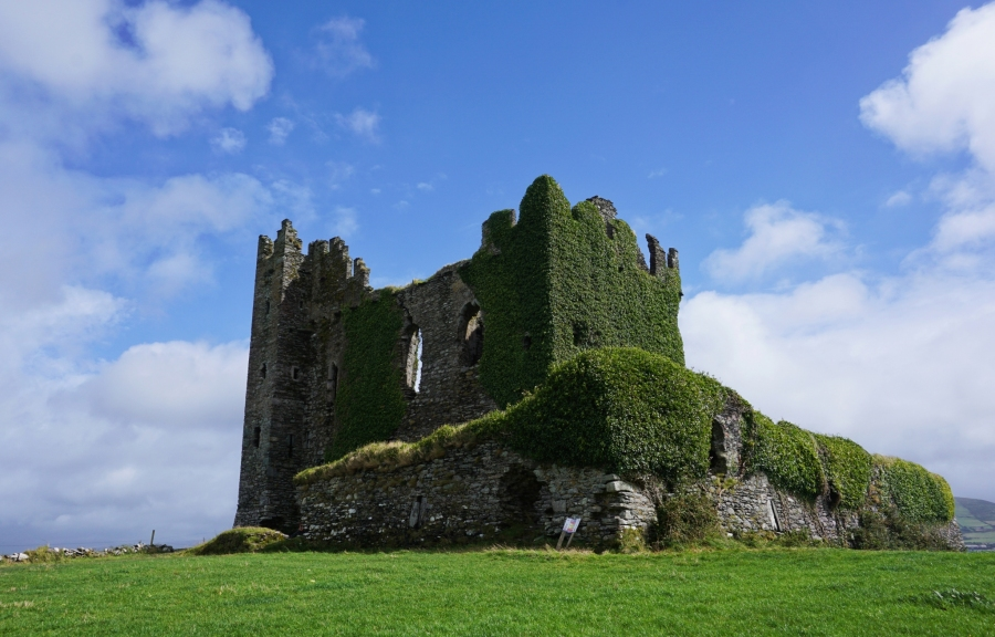 Ballycarbery Castle on the Ring of Kerry, Ireland is still climbable.
