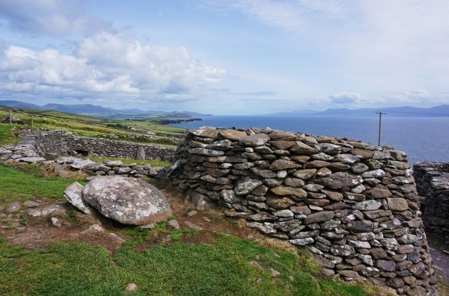 Ancient beehive huts dot the Dingle Peninsula