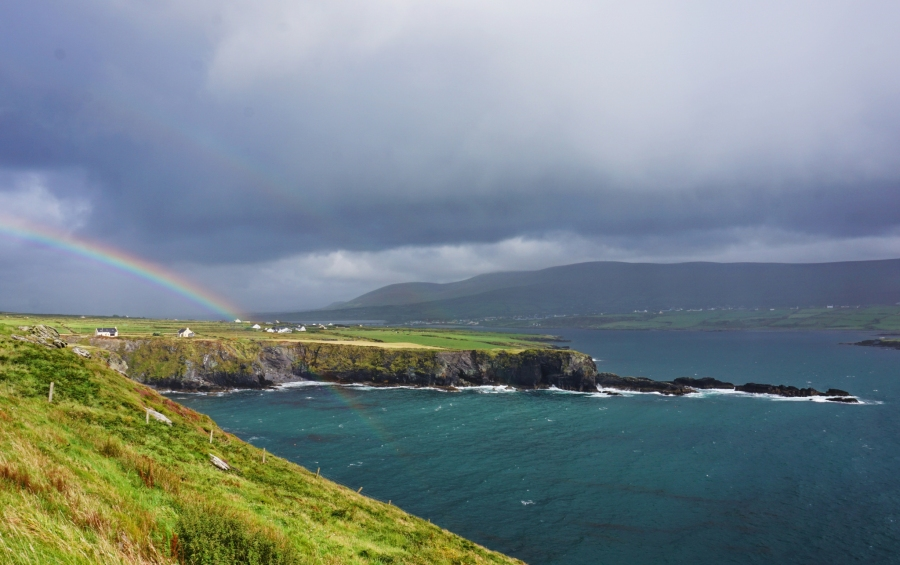 Rainbow on Valentia Island, Ireland.