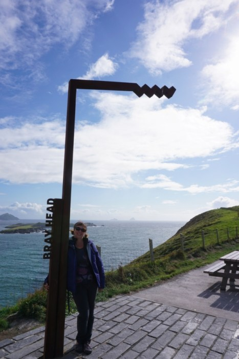 Starting a hike to the top of Bray Head on Valentia Island, Ireland.