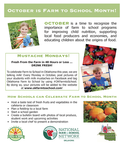 October is Farm to School Month