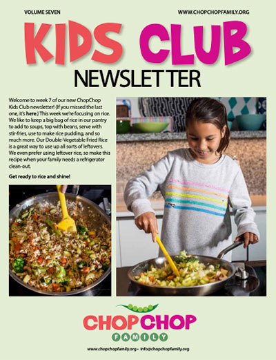 ChopChop Kids Club Newsletter – Week 7