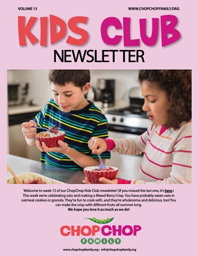 Chop Chop Newsletter – Week 13