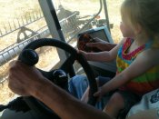 Trale - the best combine driver on the farm.