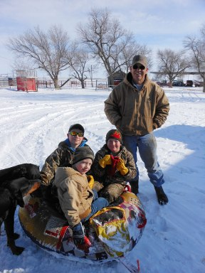 Granddad Gary with Rustin Dome, Tayte Dome and Xander.