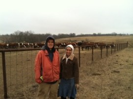 Luke and Chatntée after rounding up the cows.