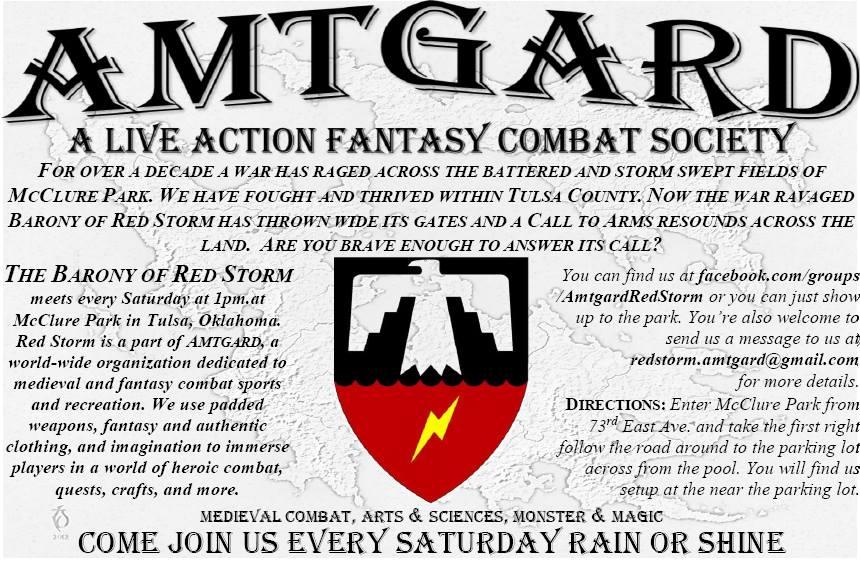 Amtgard Tulsa - Barony of Red Storm - Boffer LARP