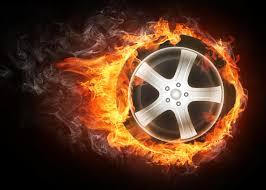 burning tire