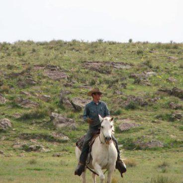 Kenny Bob Tapp on horseback