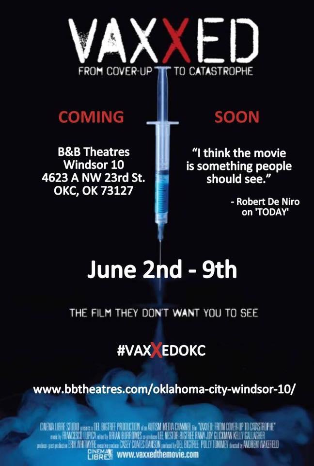 Vaxxed in OKC area June 2-9 2016