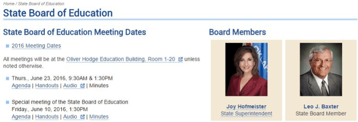 01 State Board of Education