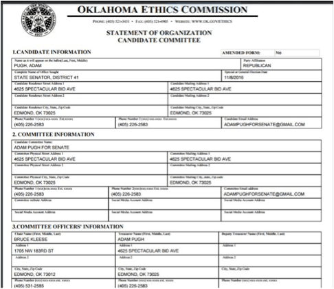 28 Oklahoma Ethics Commission
