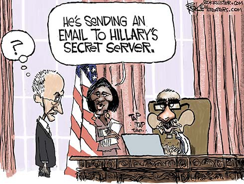 Obama's Fake Name and Hillary's Secret Email Server