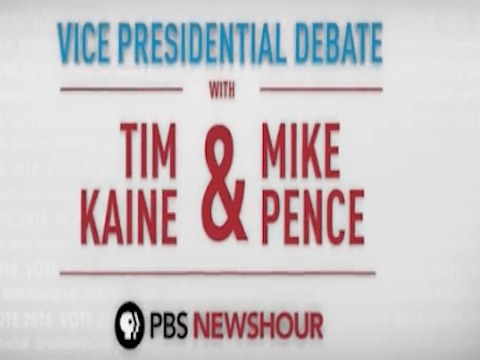 Pence vs. Kaine: VP Debate Live at 8pm CT