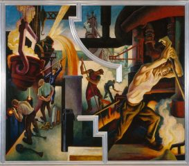 Thomas Hart Benton's America Today mural series, Steel