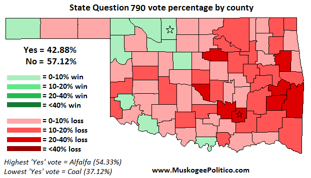 Election Results Map: State Question 790