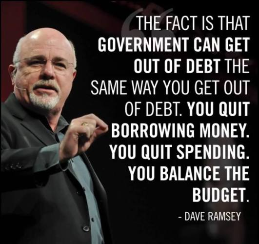 Dave Ramsey on How to Get out of Debt -- Hint:  It is NOT spending more!